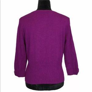 White House Black Market Sweaters - White House Black Market Cardigan Purple Washable